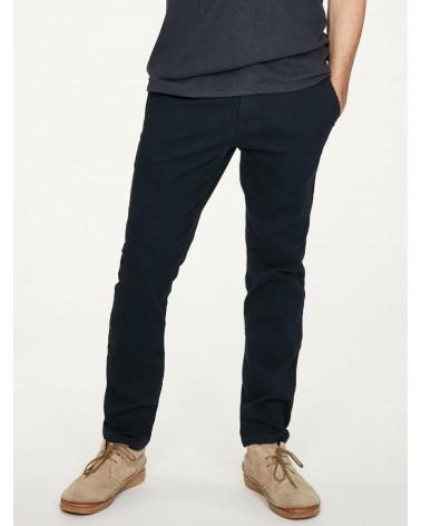 Pantalone uomo in cotone bio blu. Thought