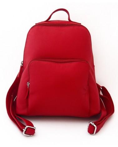 Zaino rosso artigianale in pelle. Progetto equosolidale.