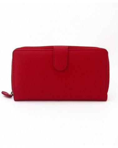 Portafogli donna artigianale in pelle rosso. Progetto equosolidale