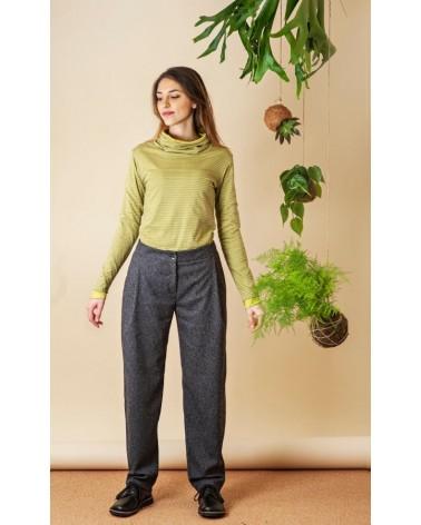 Pantalone antracite in cotone e lana TG M. Articolo di sartoria