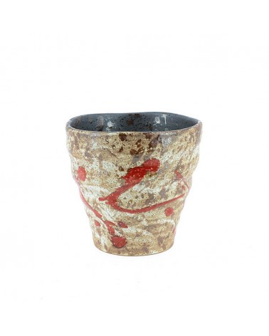Tazza in ceramica giapponese interno nero. Made in Japan