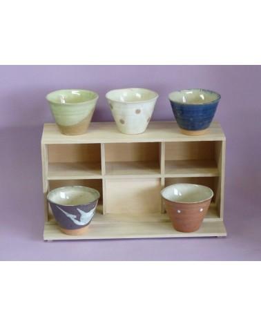 Set cinque ciotole in porcellana, provenienza Giappone.