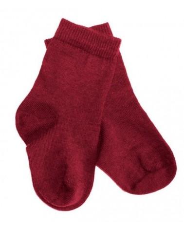 Calze bambino in cotone bio rosso n 23-26.