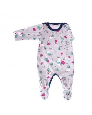Tutina neonato ranette in cotone bio 3-6 mesi