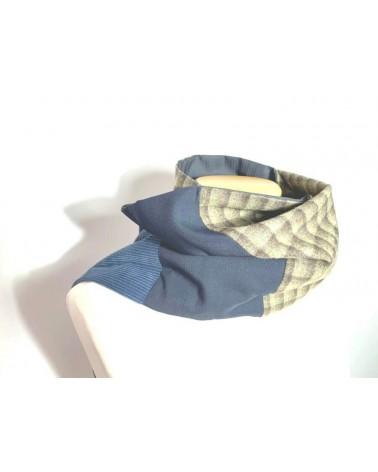 Sciarpa artigianale in cashmere, cotone, seta. Made in Italy