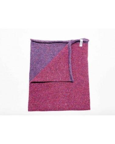 Scaldacollo in lana e seta rigenerata, viola/magenta.