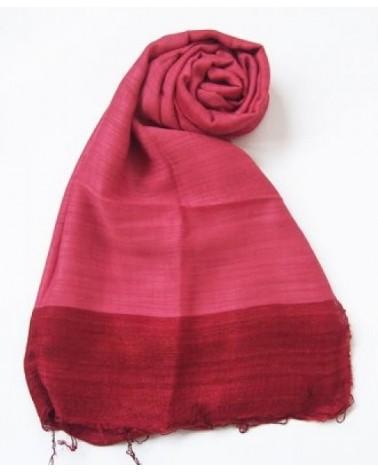 Sciarpa in seta e cotone, rosso veneziano.